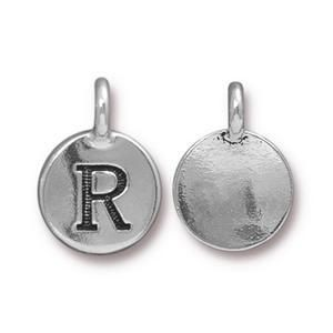 Charm R Antique Silver - Pkg of 20 TierraCast® Britannia Pewter