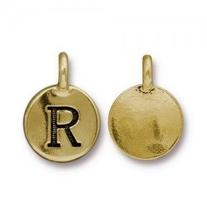 Letter R Charm - Pkg of 20 TierraCast® Bright Gold
