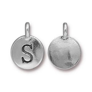 Charm S Antique Silver - Pkg of 20 TierraCast® Britannia Pewter