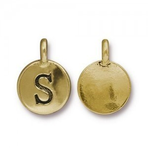 Letter S Charm - Pkg of 20 TierraCast® Bright Gold