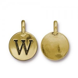 Letter W Charm - Pkg of 20 TierraCast® Bright Gold