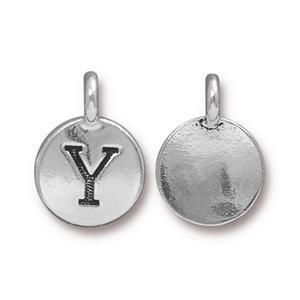 Charm Y Antique Silver - Pkg of 20 TierraCast® Britannia Pewter