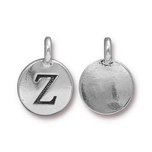 Charm Z Antique Silver - Pkg of 10 TierraCast® Britannia Pewter