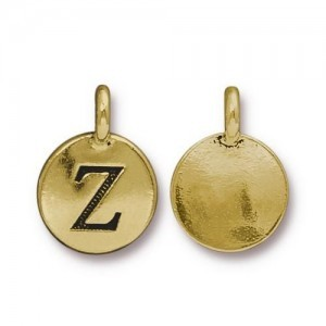 Letter Z Charm - Pkg of 10 TierraCast® Bright Gold