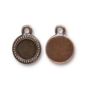Charm Ss34 Bezel Antique Copper - Pkg of 20 TierraCast® Britannia Pewter