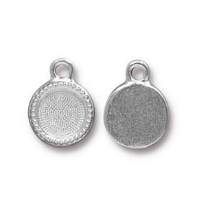 Charm Ss34 Bezel Bright Rhodium - Pkg of 20 TierraCast® Britannia Pewter