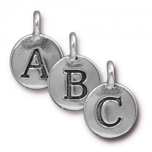 Alphabet Charm Mix in Silver Plate 10pcs Each Letter Total 260 Pcs