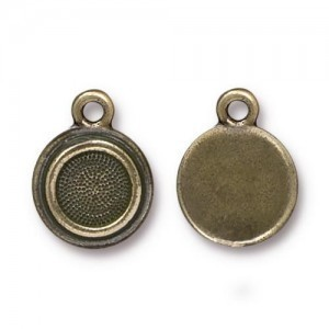 Drop Ss34 Stepped Bezel Bo - Pkg of 20 TierraCast® Britannia Pewter