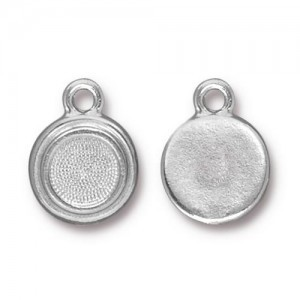 Drop Ss34 Stepped Bezel Rb - Pkg of 20 TierraCast® Britannia Pewter