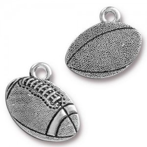18mm Football Antique Silver - Pkg of 20 TierraCast® Britannia Pewter