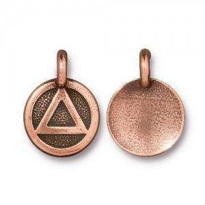 Charm Recovery 12mm Antique Copper - Pkg of 20 TierraCast® Britannia Pewter