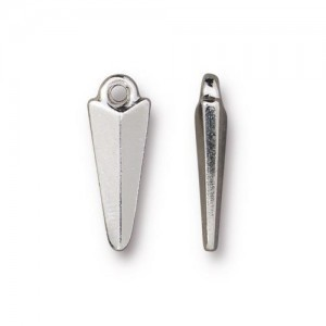 Charm 0.75 inch Dagger Rhodium Finish - Pkg of 20 TierraCast® Britannia Pewter