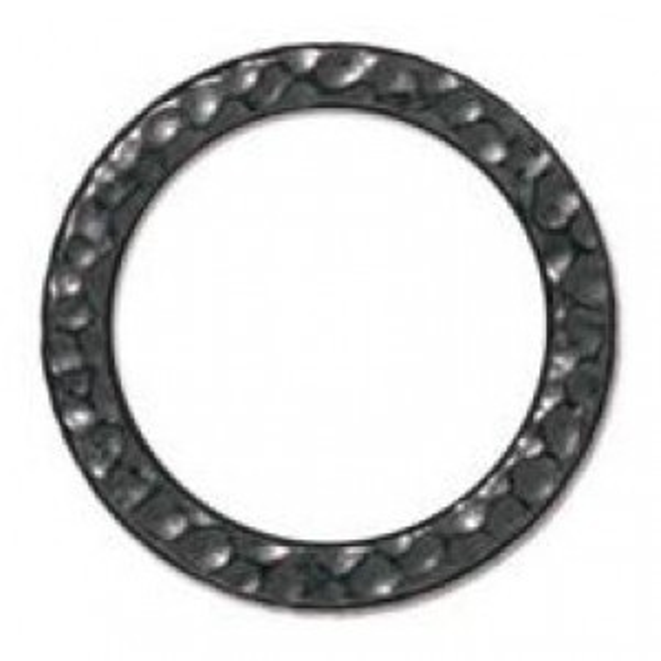 Link Lg Hammered Ring Black Finish - Pkg of 20 TierraCast® Britannia Pewter