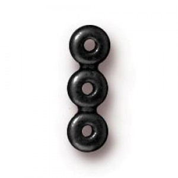 11.5mm Plain 3 Hole Bar Black Finish - Pkg of 20 TierraCast® Britannia Pewter