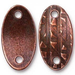 Link 24.4x13mm Hole 2.5mm R&R Oval Antique Copper - Pkg of 20 TierraCast® Britannia Pewter