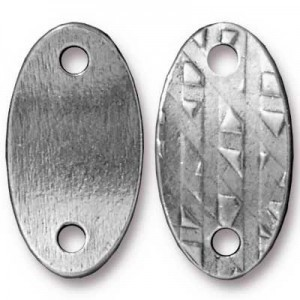 Link 24.4x13mm Hole 2.5mm R&R Oval Antique Pewter - Pkg of 20 TierraCast® Britannia Pewter