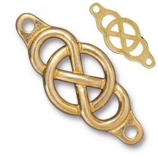 Link Infinity Centerpiece Bright Gold - Pkg of 10 TierraCast® Britannia Pewter