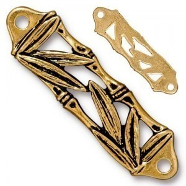 Link Bamboo Centerpiece Antique Gold - Pkg of 10 TierraCast® Britannia Pewter