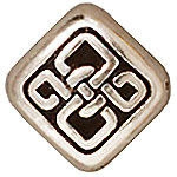 Bead Sm Celtic Diamond Antique Fine Silver - Pkg of 20 TierraCast® Britannia Pewter