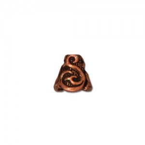 Lily Cone Antiqued Copper Plate - Pkg of 20 TierraCast®