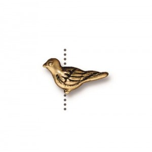 Paloma Bead Antiqued Gold Plate - Pkg of 20 TierraCast®