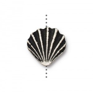 Scallop Shell Bead Antiqued Silver Plate - Pkg of 20 TierraCast®