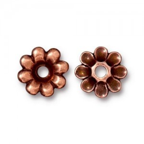 Rivetable Flower Antique Copper - Pkg of 20 TierraCast® Britannia Pewter