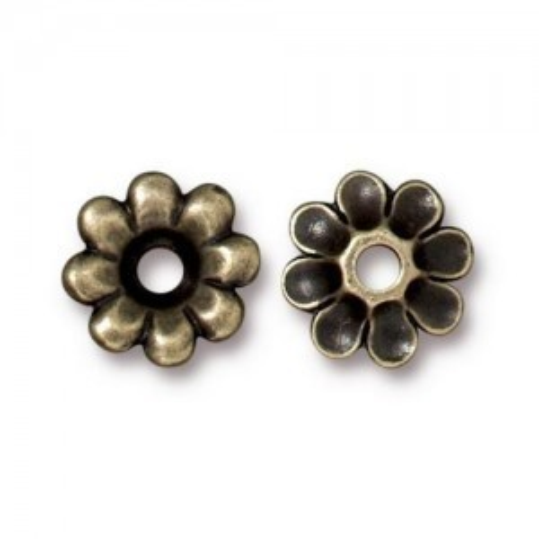 Rivetable Flower Brass Oxide - Pkg of 20 TierraCast® Britannia Pewter