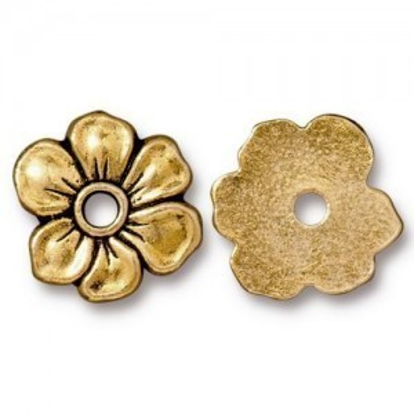 Rivetable Apple Blossom Antique Gold - Pkg of 20 TierraCast® Britannia Pewter