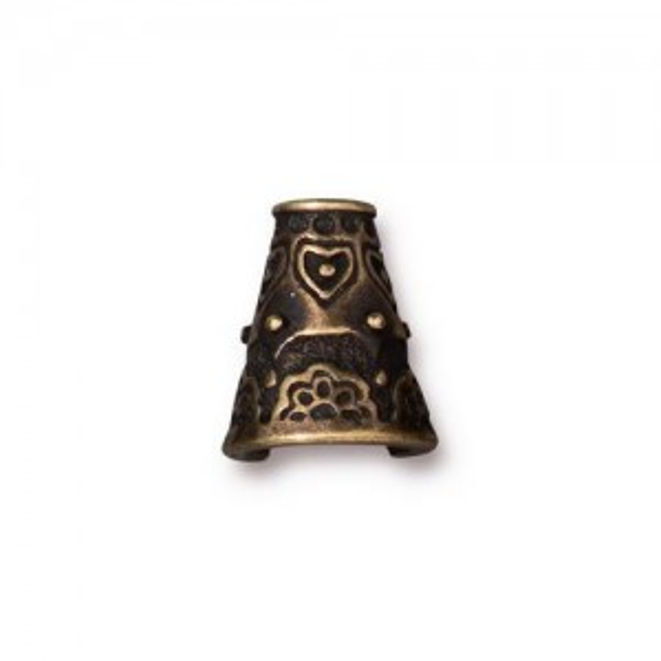 Flowering Cone Oxidized Brass Plate - Pkg of 10 TierraCast®