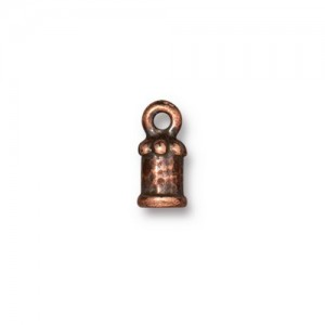 Palace Cord End 2mm Antiqued Copper Plate - Pkg of 20 TierraCast®