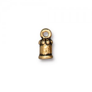 Palace Cord End 2mm Antiqued Gold Plate - Pkg of 20 TierraCast®