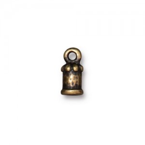 Palace Cord End 2mm Oxidized Brass Plate - Pkg of 20 TierraCast®