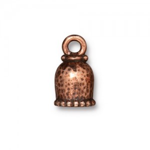 Palace Cord End 6mm Antiqued Copper Plate - Pkg of 20 TierraCast®