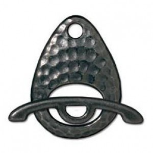 Clasp Set Hammered Black Finish - Pkg of 10 TierraCast® Britannia Pewter