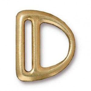 Slotted Md D Ring Link 19.25x16.3mm Bright Gold - Pkg of 20 TierraCast® Britannia Pewter