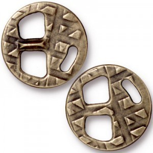 18mm Tribuckle for 5mm Brass Oxide - Pkg of 20 TierraCast® Britannia Pewter