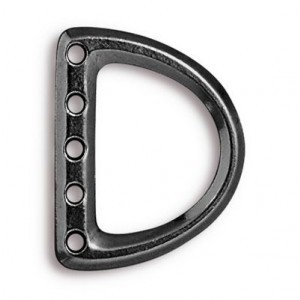 5-Hole Lg D Ring Link 24x19mm (12mm Id) Black Finish - Pkg of 20 TierraCast® Britannia Pewter