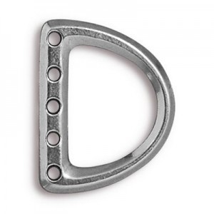 5-Hole Lg D Ring Link 24x19mm (12mm Id) Antique Pewter - Pkg of 20 TierraCast® Britannia Pewter