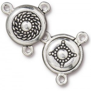 Opulence Magnetic Clasp Set Antiqued Silver Plate - Pkg of 5 TierraCast®