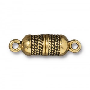 Rope Magnetic Clasp Antiqued Gold Plate - Pkg of 5 TierraCast®
