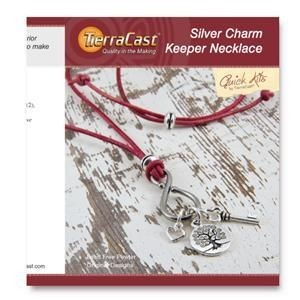 Quick Kit by TierraCast® Silver Charm Keeper Necklace
