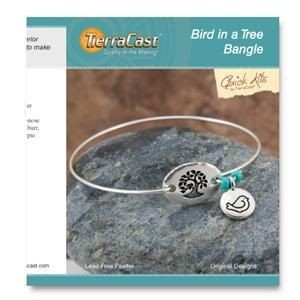 Quick Kit by TierraCast® Bird in a Tree Bangle