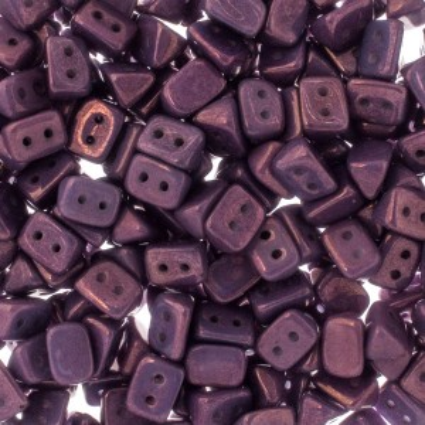 Czech Trios 2-Hole Bead 6x4mm Apx 300pcs Chalk Lumi Purple