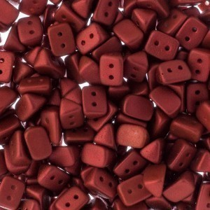 Czech Trios 2-Hole Bead 6x4mm Apx 300pcs Lava Red