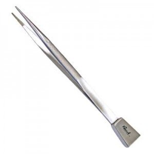 Serrated Utility Tweezers W/ Shovel 7 1/4 Inch Length Stainless Steel