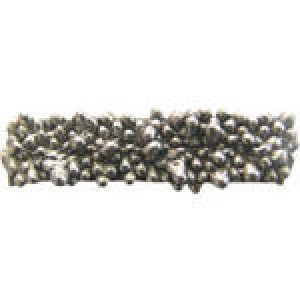 3 Strand Granular Spacer Bar 16.5x4mm (2.5mm Holes) - Pkg of 10 Quest Beads & Cast™ Antique Pewter