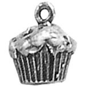 Muffin 14x12mm 3d - Pkg of 5 Quest Beads & Cast™ Antique Pewter