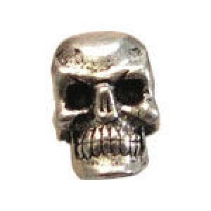 Small Skull Horizontal Bead 5.5x5.5mm - Pkg of 10 Quest Beads & Cast™ Antique Pewter