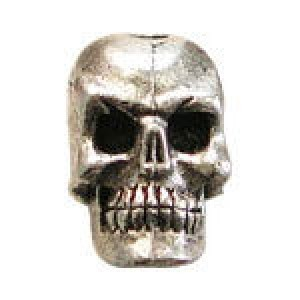 Small Skull Vertical Bead 5.5x7mm - Pkg of 10 Quest Beads & Cast™ Antique Pewter